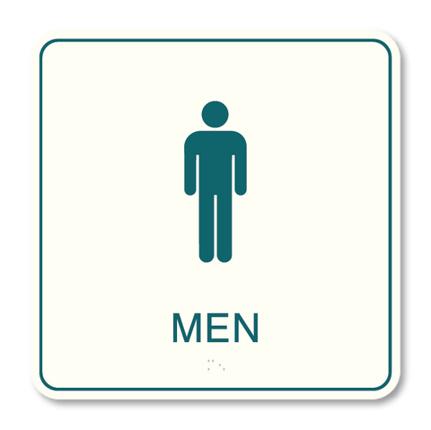 Primary - Restroom Men  (White & Teal)