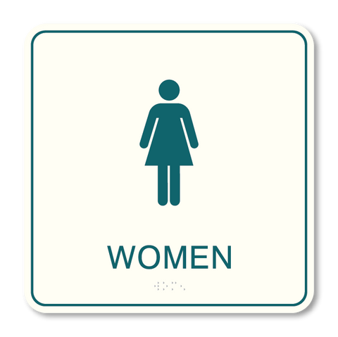 Primary - Restroom Women (White & Teal)