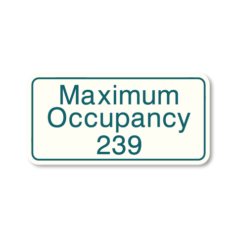 Primary - Maximum Occupancy  (White & Teal)