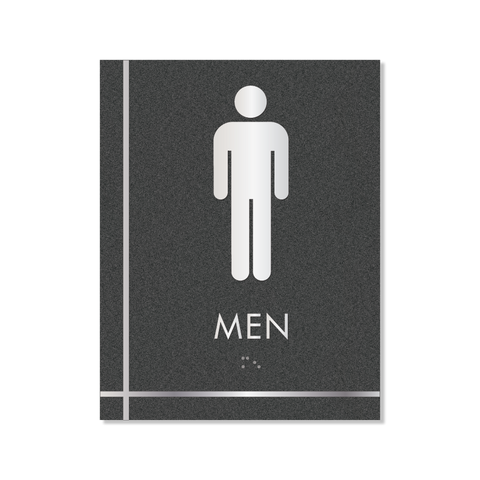 Grid - Pictogram Men (Graphite/Silver)
