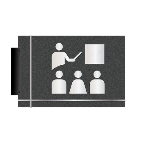 Grid - Flag Pictogram Meeting Room (Graphite/Silver)