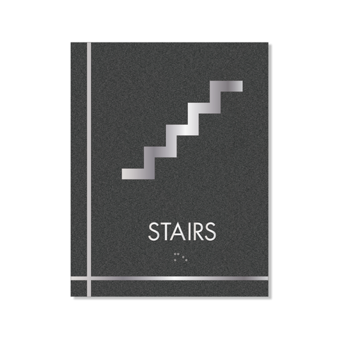 Grid - Pictogram Stairs (Graphite/Silver)
