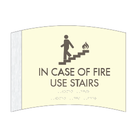 Pictogram - In Case of Fire Sign