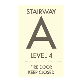 Stairwell Identification Sign