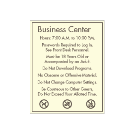 Busincess Center Rules