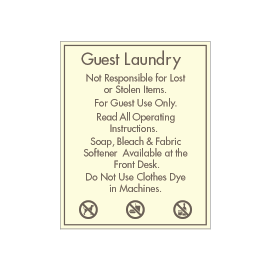Guest Laundry Rules