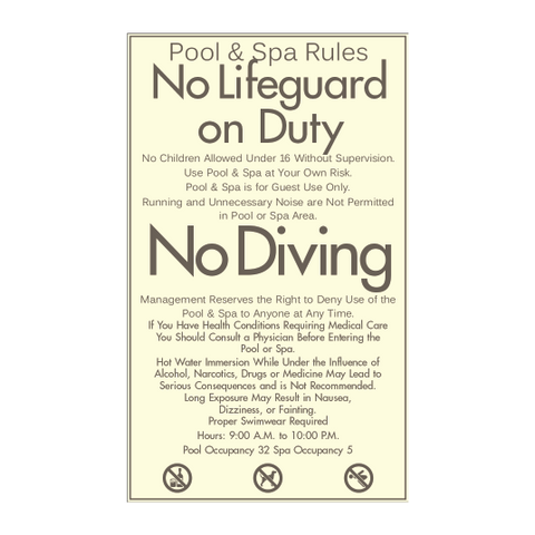 Pool and Spa Rules
