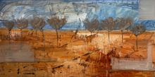 "Load image into Gallery viewer, Townley- ""COME ON IN"" Contemporary Landscape art 36""x72"""