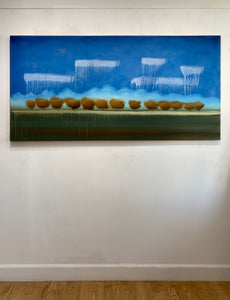 "Shane Townley-""RAINING OIL"" 36""x72""  Contemporary Landscape Art"