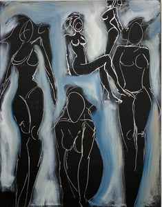 """WOMAN'S RIGHTS III"" by Shane Townley Figurative 46""x36"" oils on canvas"