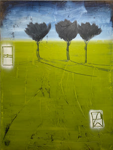 "Shane Townley- ""HAPPY"" 48""x36"" Contemporary Landscape Art"