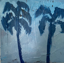 Load image into Gallery viewer, Blue Palm trees
