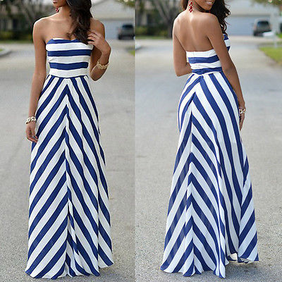 Sexy Summer Long Sleeveless Dress