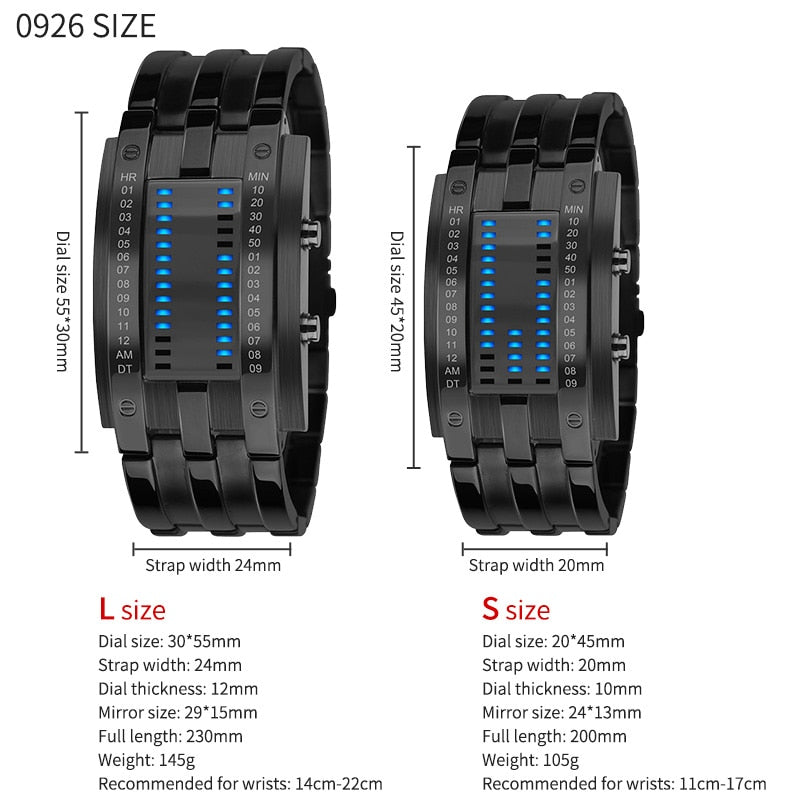 SKMEI Fashion Creative Sport Watch Men Stainless Steel Strap LED Display