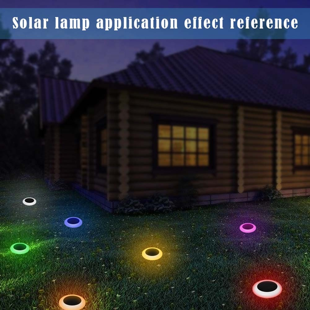 Waterproof Solar Panel Lawn Lamp Garden Yard Path Lawn Solar Lamps Outdoor Grounding Sun Light Built In Battery Colourful