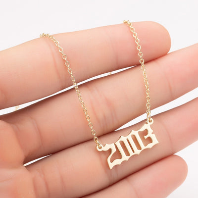 Women Personalized Necklace Special Date Year Number