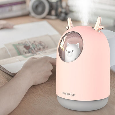 Animal Humidifier Rechargeable Night Light Kids Bedroom Aroma Diffuser Cool Mist Maker Air Creative Gift USB With Romantic Lamp