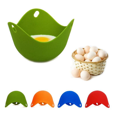 Silicone Egg Poaching Pods Mould For Tasty Delicious Perfect Egg Poaching Set of 4 Pieces
