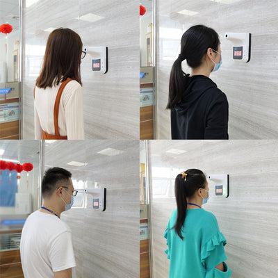 【VIDEO】K3 Non-contact Infrared Thermometer Wall-mounted Thermometer High Precision Desktop Automatic Induction Thermometer