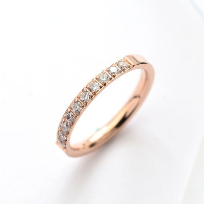 Rose Gold Colors AAA Zirconia Crystal Rings for Woman Man