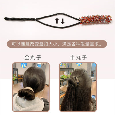 2020 New Fashion Rhinestone DIY Hair Style Making Tools Floral Korean Style Crystal Sweet Hair Curler Party Hair Accessories