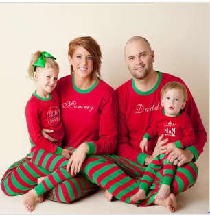 Xmas family pajamas matching clothes