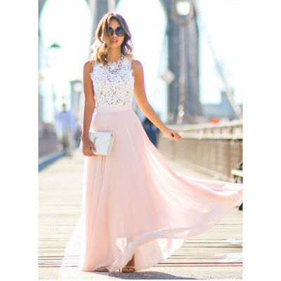 Sleeveless Lace Party Dress