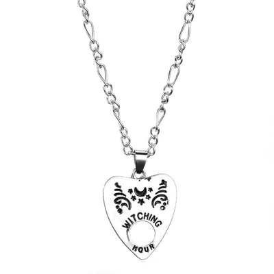 Gothic Ouija Shape Board Pendant Chain Necklace