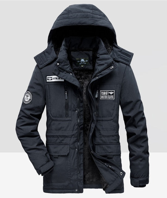 Winter Jacket Men Fleece Warm Cotton-Padded coats