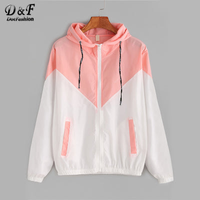 Drawstring Zipped Up Hoodie