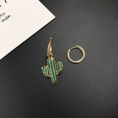 Summer Green Cactus Monaco Earrings