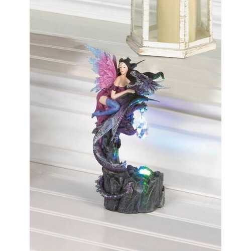 Light Up Fairy & Dragon Figurine
