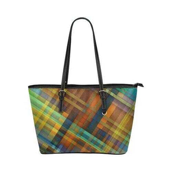 Geometric Grid Style Tote Shoulder Bag
