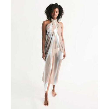 PEACH HARMONY Sheer Wrap Cover Up