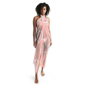 PEACH LOVE Sheer Wrap Cover Up