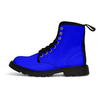 Royal Blue Vibrant Style Canvas Boots