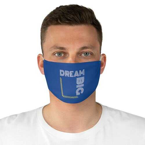 Dream Big Fabric Face Mask - Blue