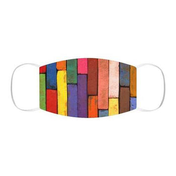 Rainbow Brick Style Snug-Fit Face Mask
