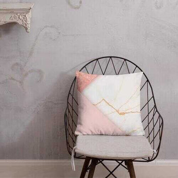 Accent Pillow, Pearly Pink Print