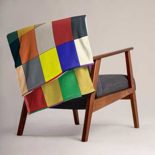 Home Decor, Multicolor Block Style Throw Blanket