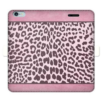 Two Tone Purple Leopard Style Full Cover Print Wallet Cases