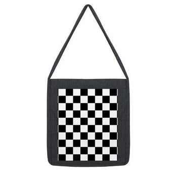 Black and White Checker Style Classic Tote Bag