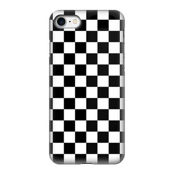 Black And White Checker Style Tough Phone Case