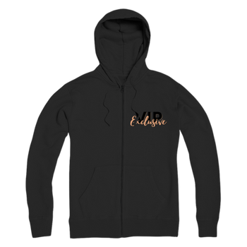 VIP Exclusive Black Graphic Premium Adult Zip Hoodie