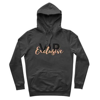 VIP Exclusive Black Graphic Premium Adult Hoodie