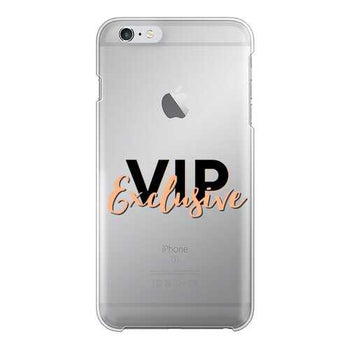 Vip Exclusive Black Graphic Back Printed Transparent Hard Phone Case