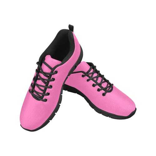Womens Sneakers, Hot Pink Black Bottom Breathable Running Shoes