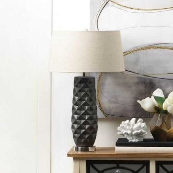 Tao Charcoal Prism Table Lamp