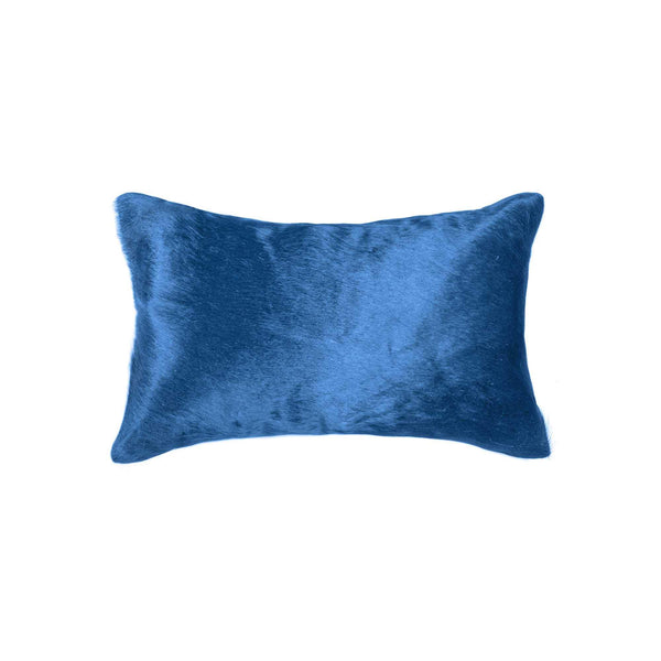 "12"" x 20"" x 5"" Sky Blue Cowhide - Pillow"