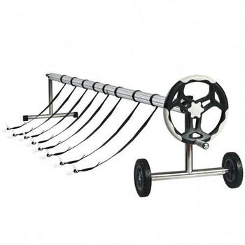 18 ft Pool Cover Reel Set with Hand Crank and Wheels